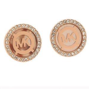 Michael Kors Mk monogram stud earrings